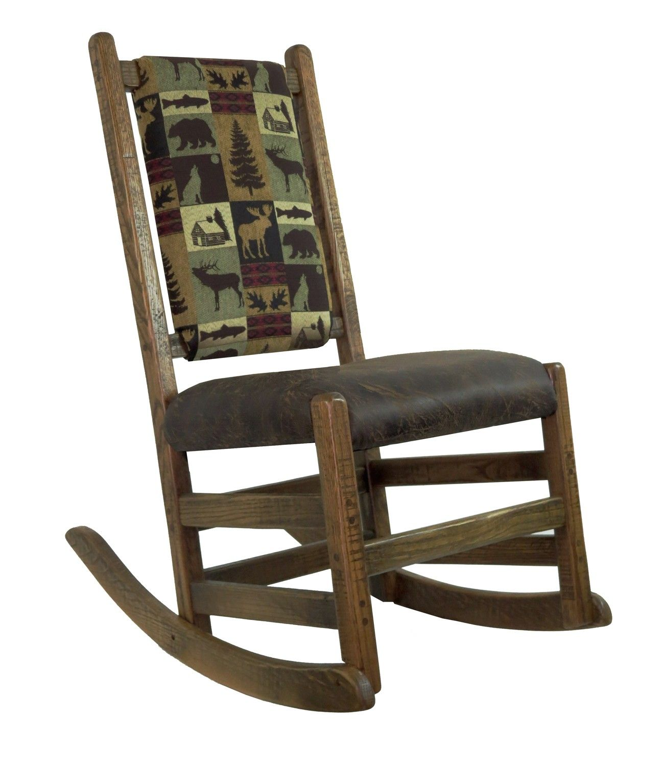 Perfect Rustic Rocker for the cabin! Barn wood, Rocking