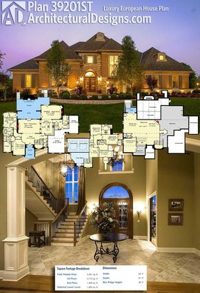 Photo of Plan 39201ST: Luxury European House Plan