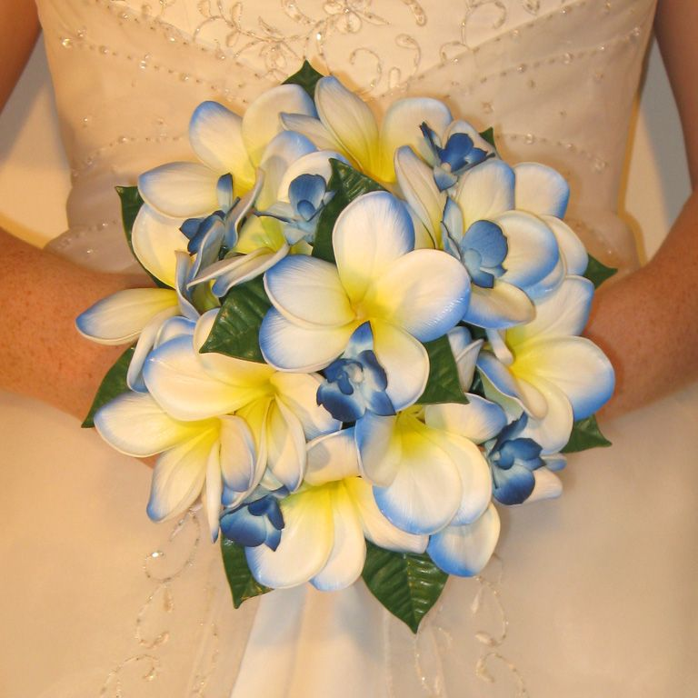 Blue And Yellow Wedding Boquets
