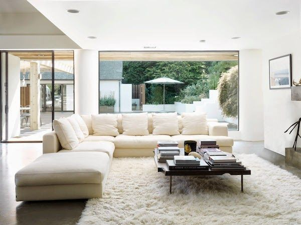 A wonderful summer home in the Hamptons VIPP modules in white + - kuhfell teppich wohnzimmer