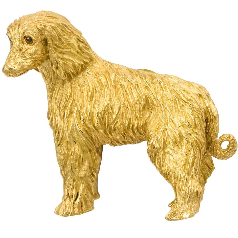 848ecc0789ec9 Tiffany & Co. Sapphire Gold Shaggy Dog Brooch | Jewelry: Fauna ...