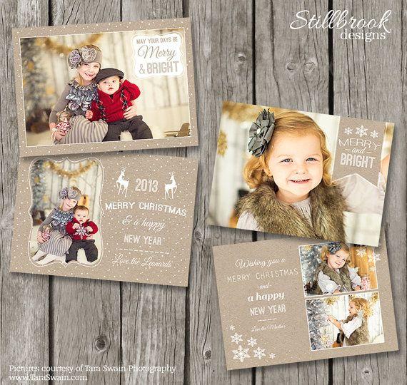 Tarjetas de Navidad rústico - plantillas de tarjeta de Navidad de ...