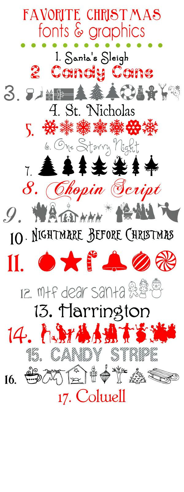 Seasonal Fonts Chistmas Winter Fonts Christmas Fonts Cricut