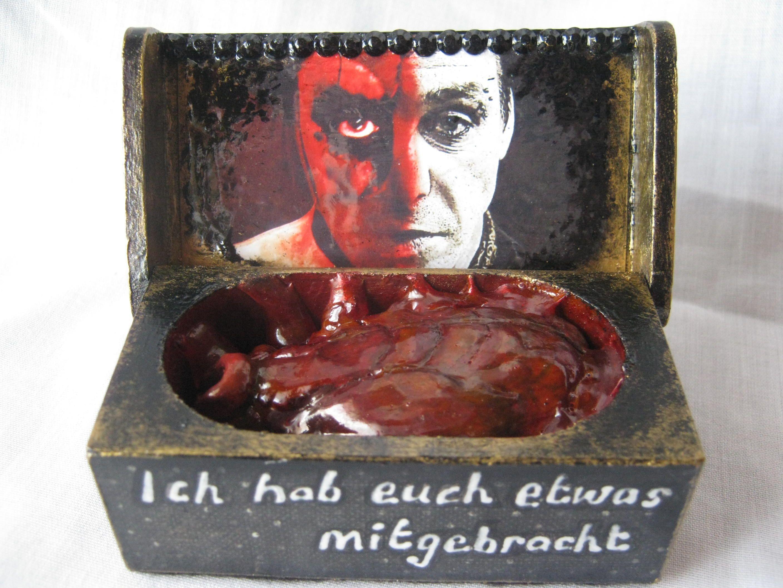 """""""I have brought you... Something."""" // SOLD! Till Lindemann Rammstein 'Mein herz brennt' box."""