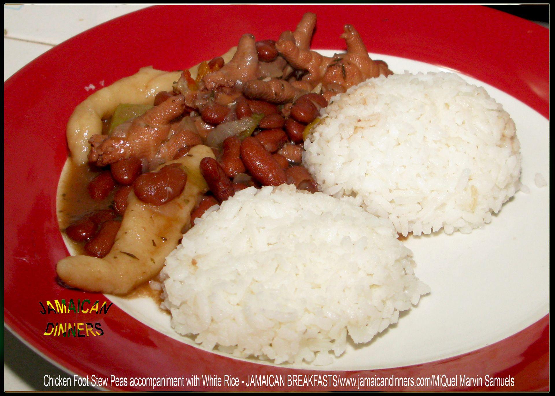 chicken foot stew peas  http//jamaicandinners