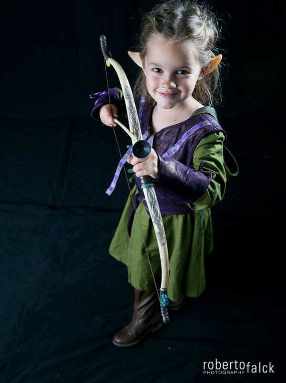 Girlu0027s Tauriel The Warrior Elf Costume Dress by EraOfMakeBelieve  sc 1 st  Pinterest : elf infant costume  - Germanpascual.Com