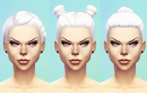 Miss Fortune Sims: Intense White hairstyle  - Sims 4 Hairs - http://goo.gl/w45IBN