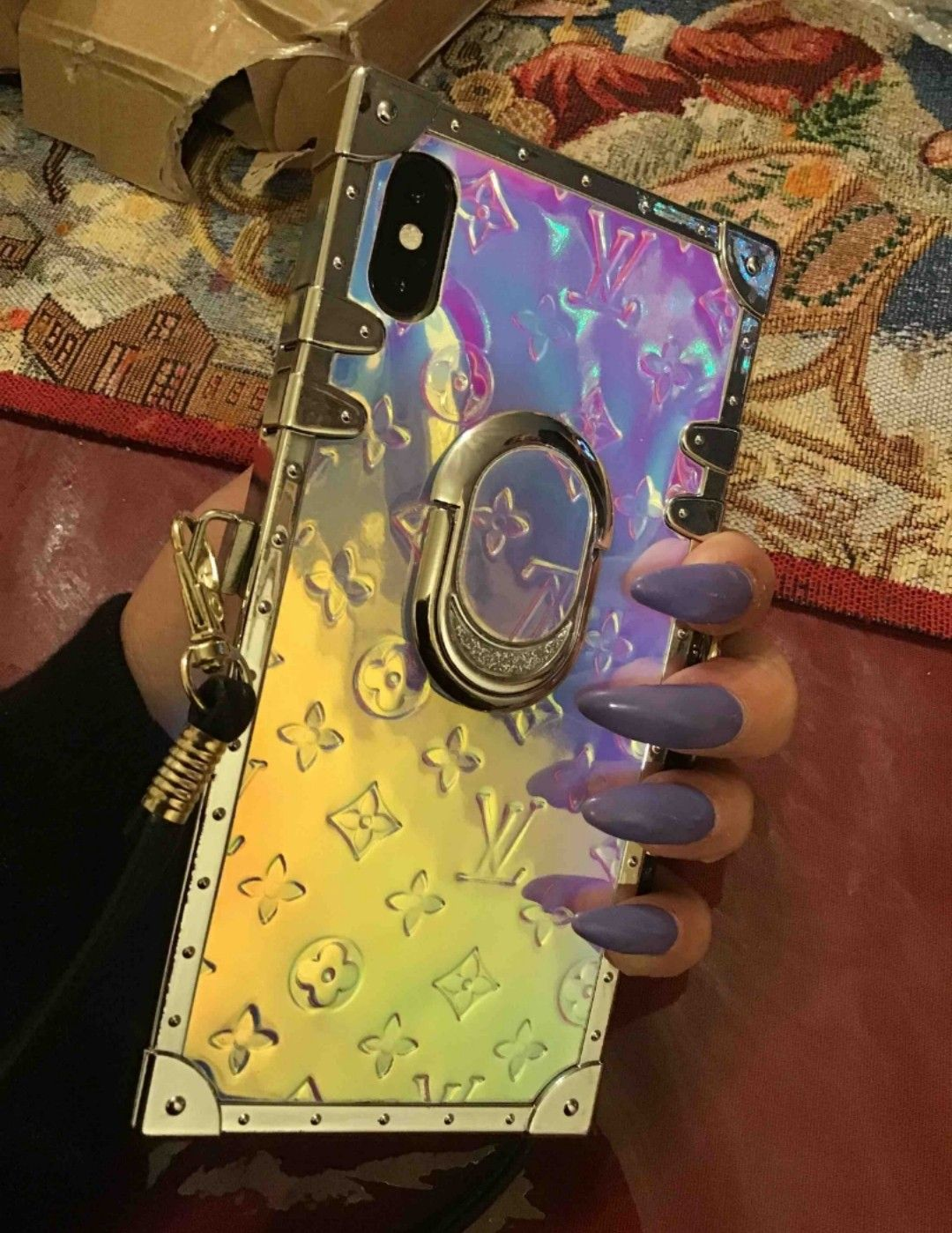 Holographic monogram iphone case in 2020 monogram
