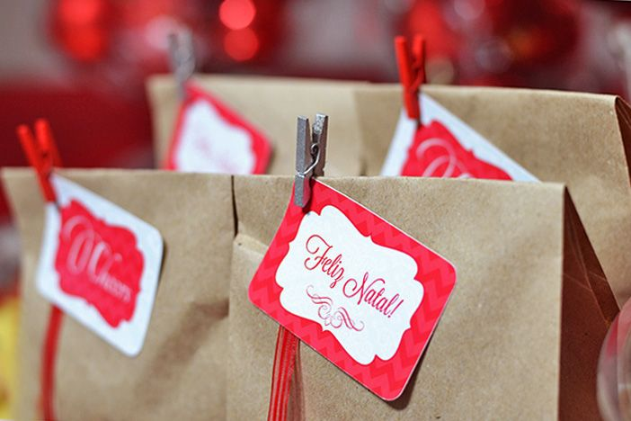 Tags para lembrancinhas - Jantar de Natal {Papelaria personalizada} #joyinthebox