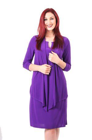 Tiana B - 87145 Purple two piece dress with matching jacket