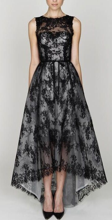 2012 Monique Lhuillier Fashion Pretty Dresses Lace Dress