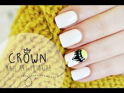 Crown nail art tutorial | Korona na paznokciach