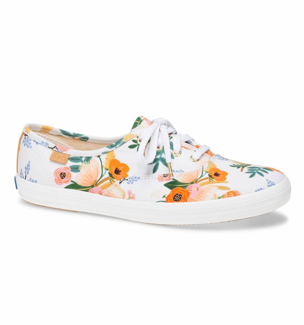 56770809419c Lively Floral White Rifle Paper Co. × Keds® Collection ...
