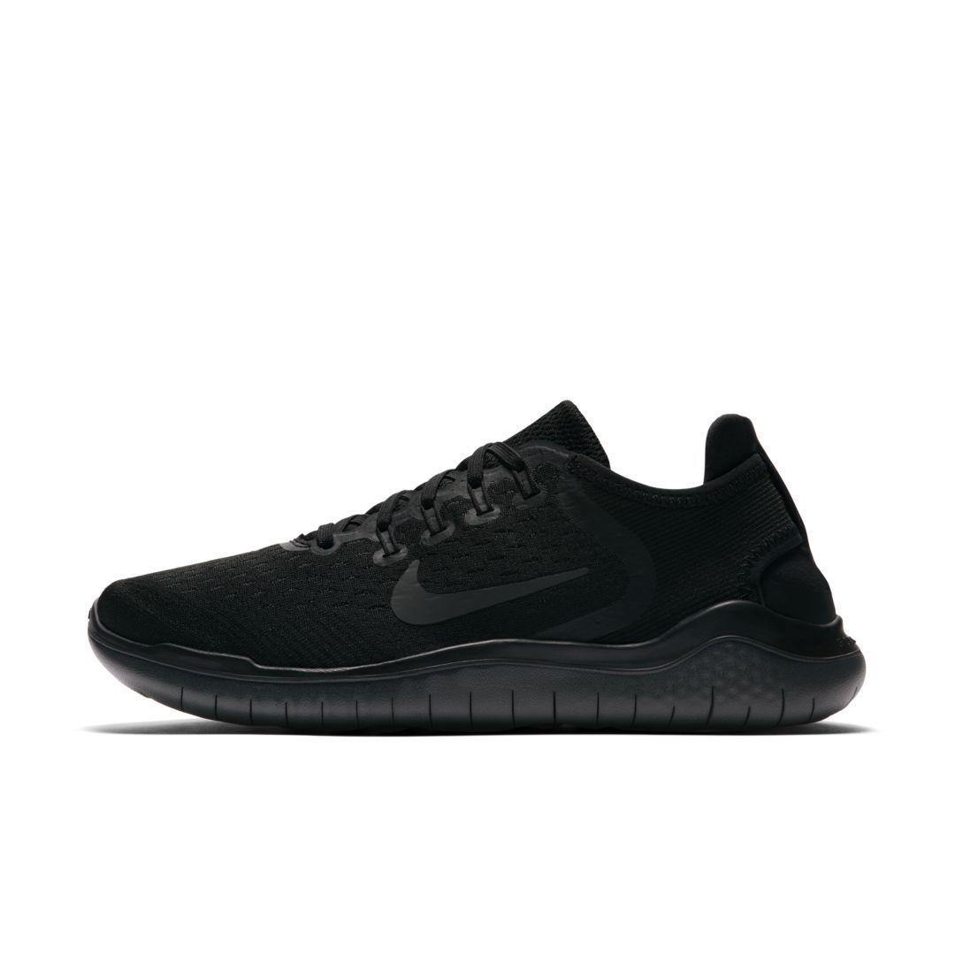 uk availability 8b9c1 66e13 Nike Free RN 2018 Womens Running Shoe Size 6.5 (Black)