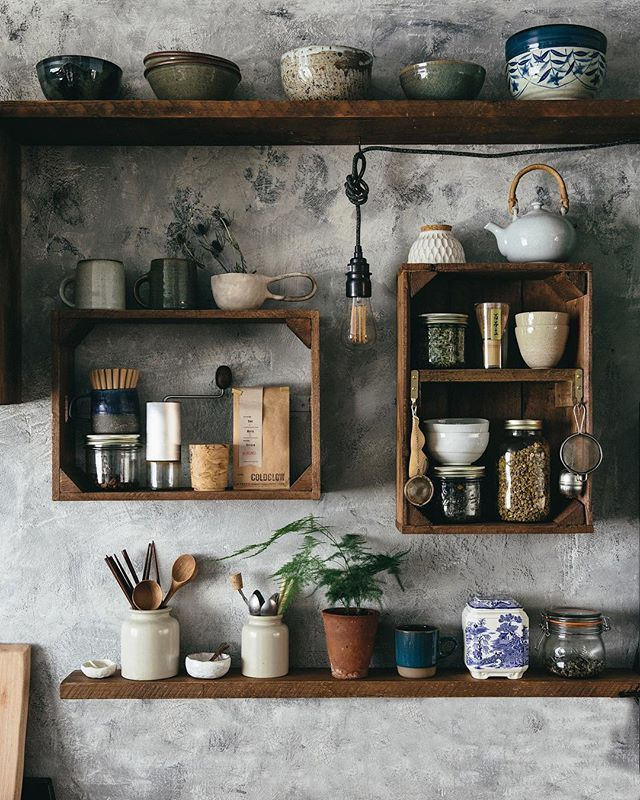 """Photo of The Future Kept on Instagram: """"We wanted to create a simple, modest feel to our kitchen, a space for us to be able to appreciate and use the items we have been gathering…"""""""