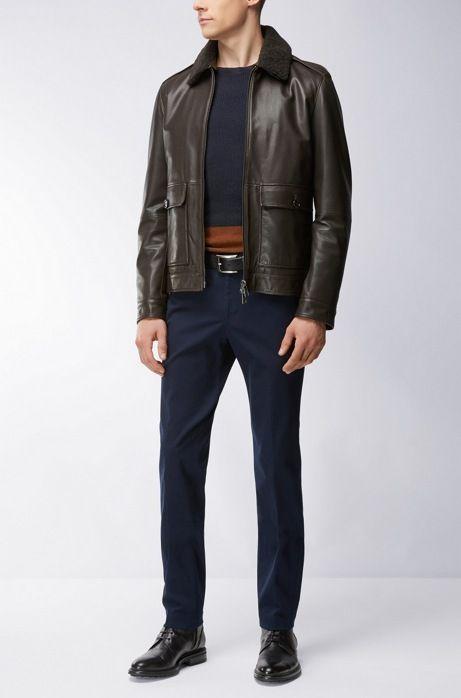 bb0f2118d Sheepskin Aviator Jacket | Graven | Hugo boss | Aviator jackets ...
