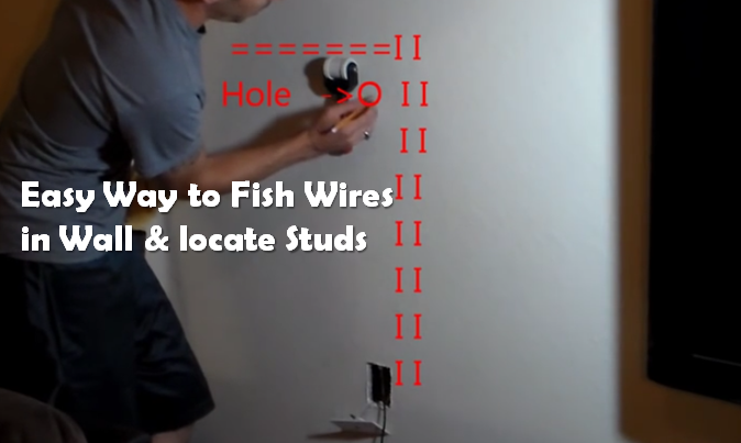 Video How To Locate Studs And Fish Wires At Home Try This Diy Project It S Easy And Simple Diy Projects Projects Diy
