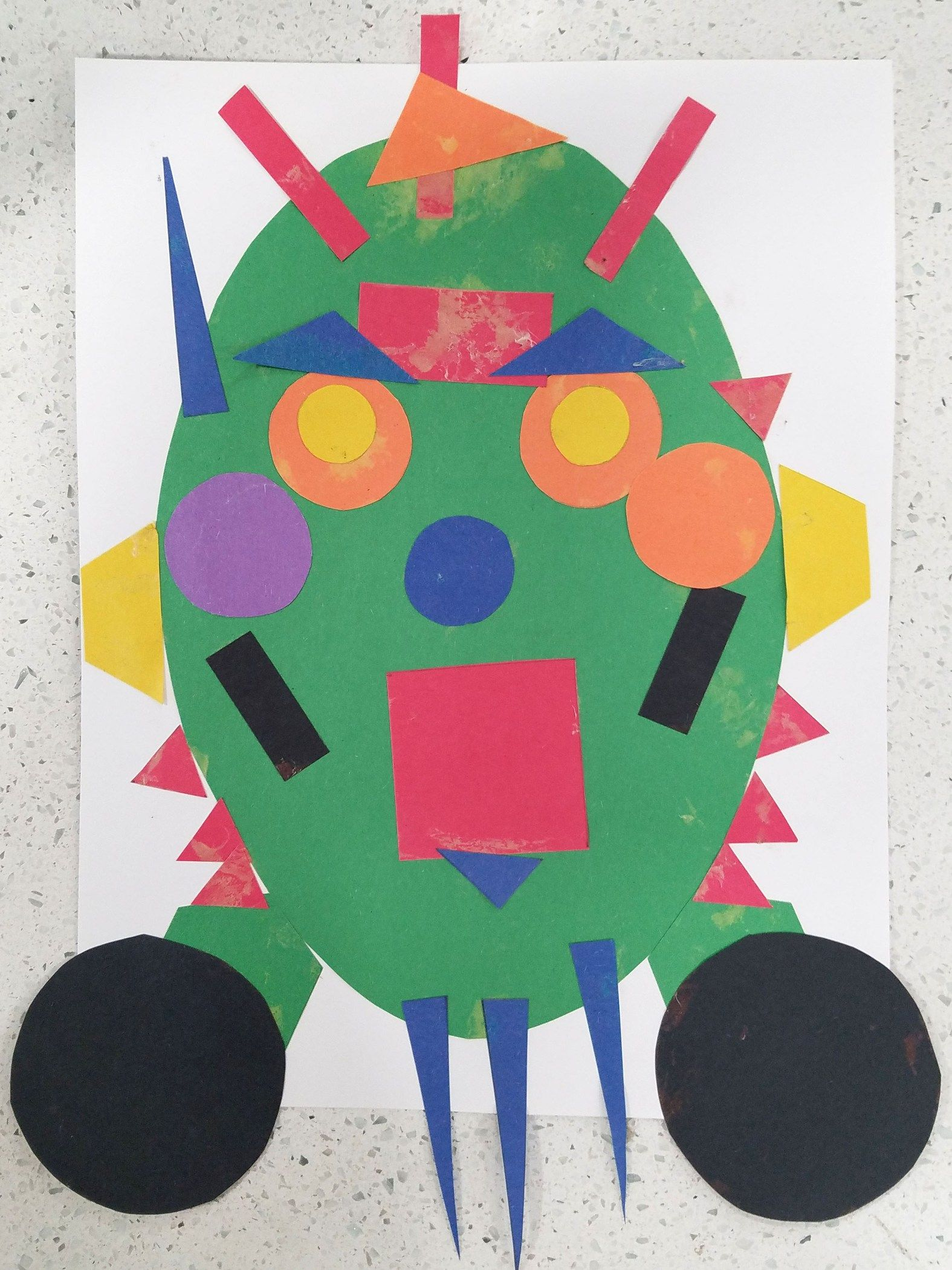 Silly Shape Monster Preschool Craft