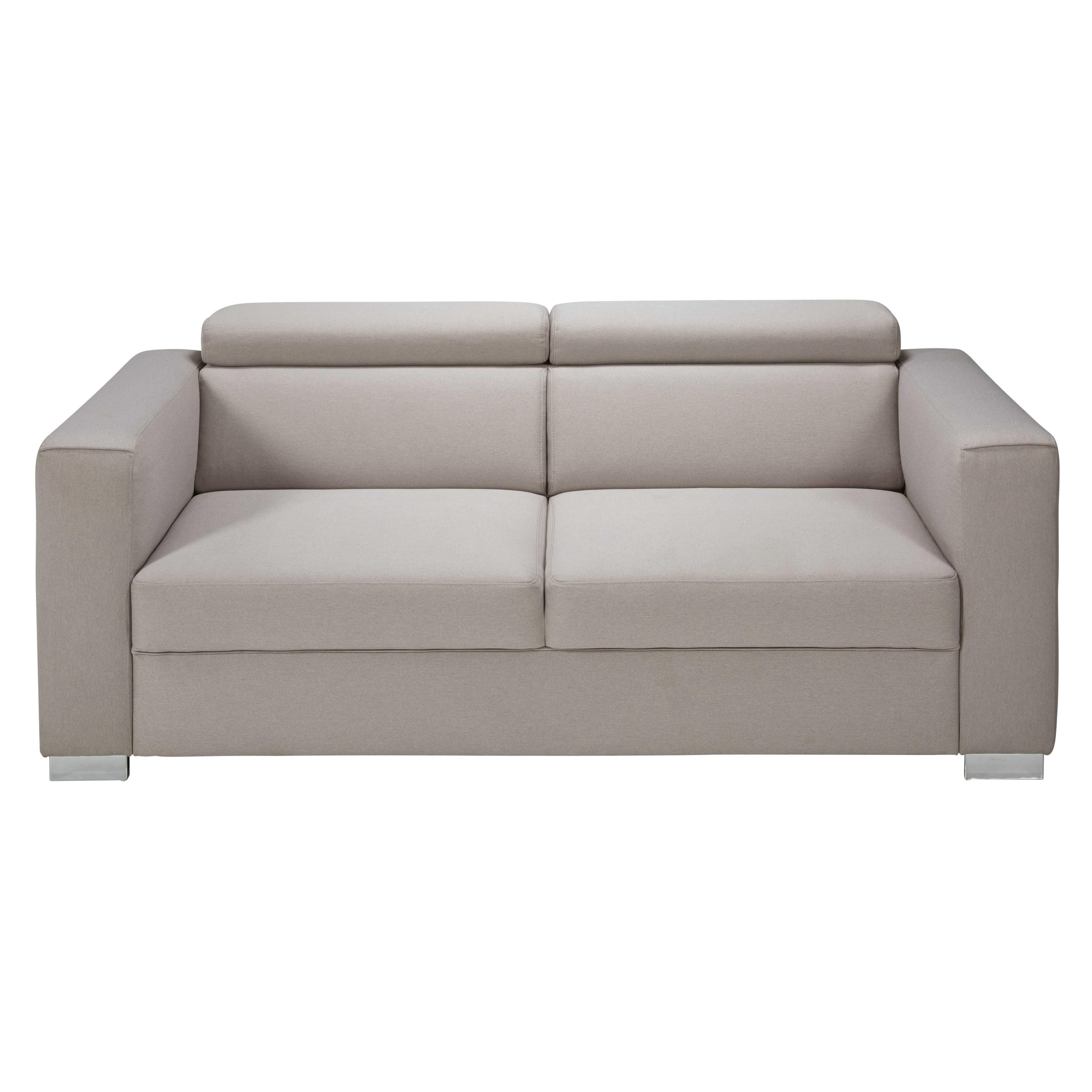 Faszinierend Sofa Mit Kopfstütze Referenz Von 3-sitzer-sofa Kopfstützen Und Graubeigem Stoffbezug Jazz