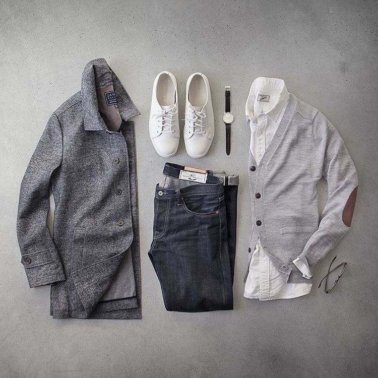 """Phil Cohen on Instagram  """"I wish all my sweaters made my elbows look this  sophisticated. Cardigan   jachsny light grey merino Coat   jachsny brushed  twill ... 7fb4572c6e4"""