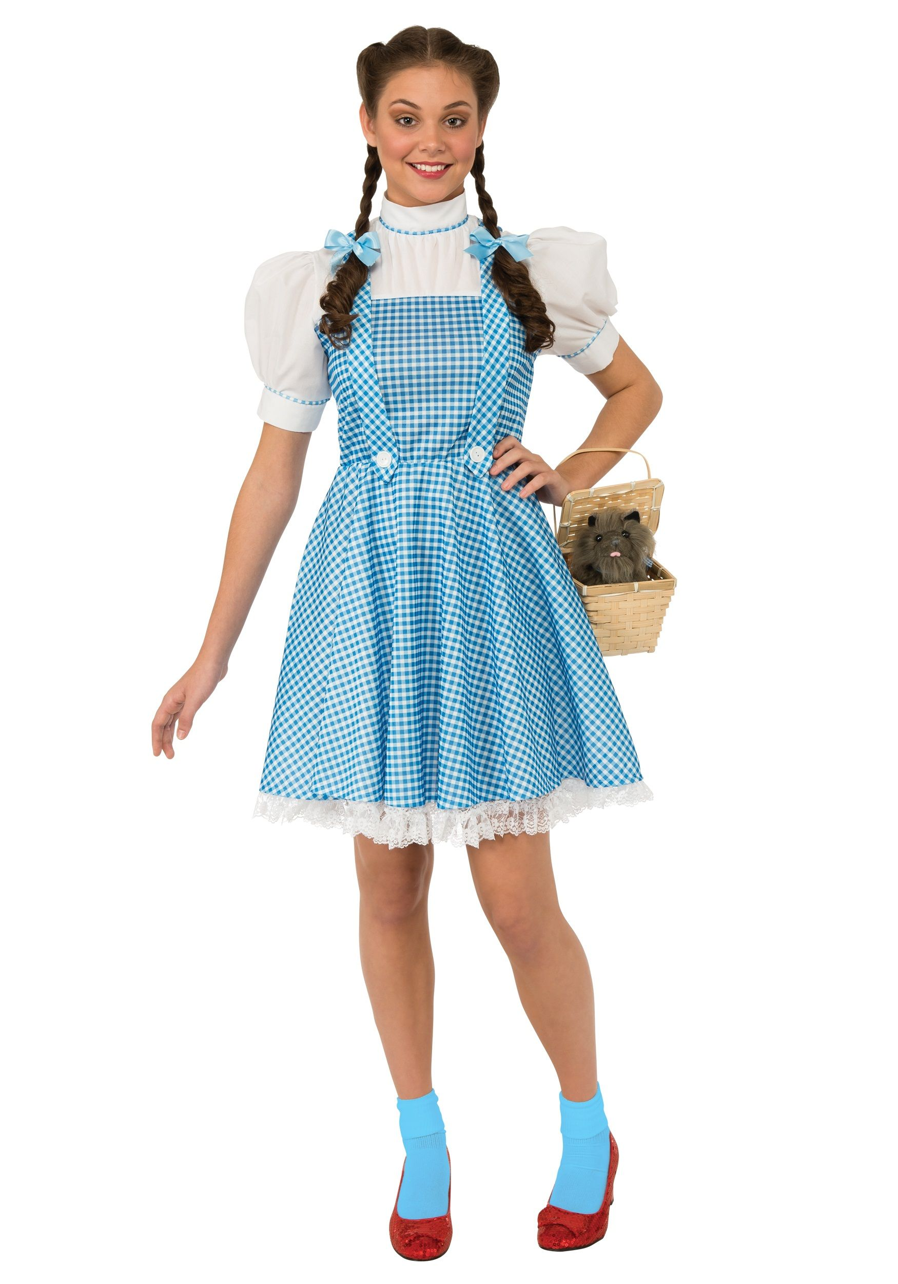 The Adult Dorothy Wizard of OZ Costume comes with a one piece blue ...