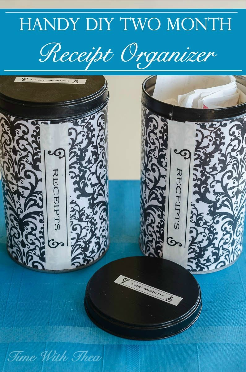handy diy two month receipt organizer pinterest store easy and