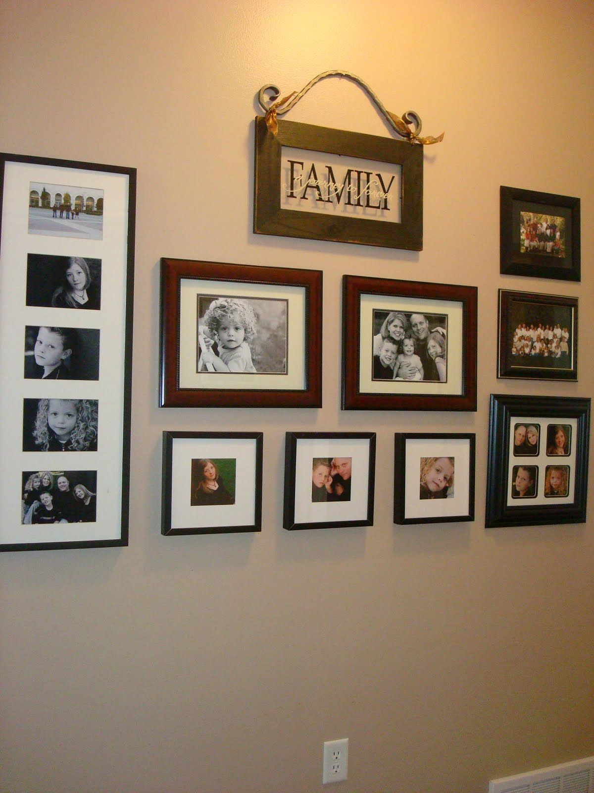Imaginecozy Arranging Photos On The Wall *The Family Sign Is