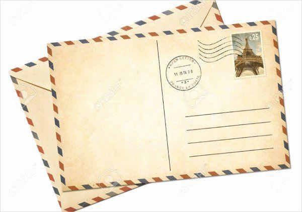Blank Postcard Template Inspirational 7 Vintage Postcard ...