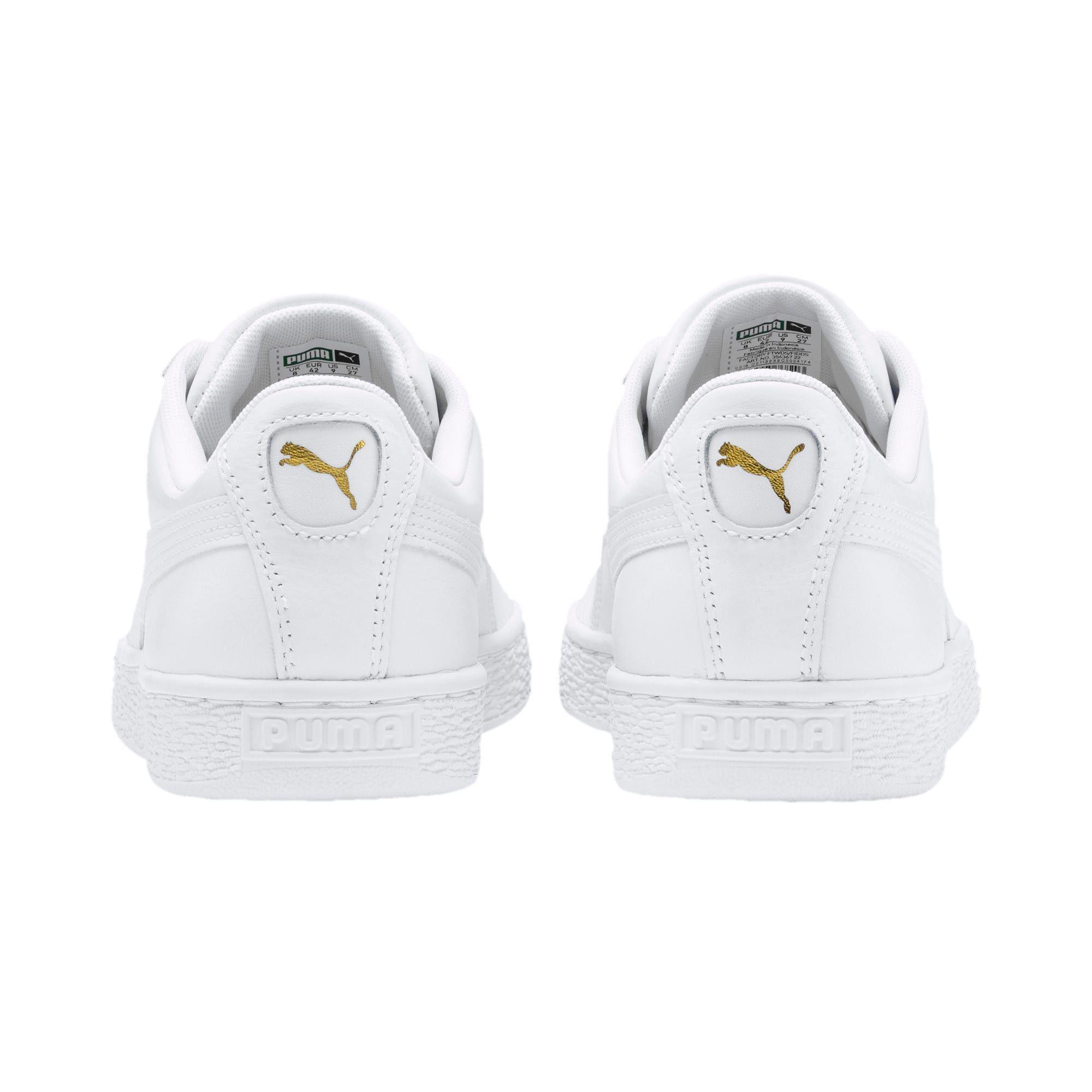 puma basket classic trainers in white