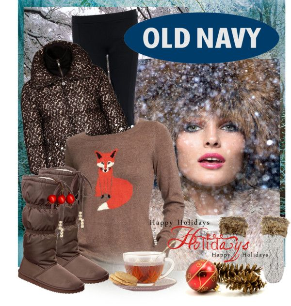 """""""Style That Sweater with Old Navy"""" by july22 ❤ liked on Polyvore"""