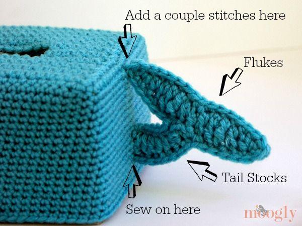Free Crochet Pattern Get Whale Soon Tissue Box Cover Tissue Box