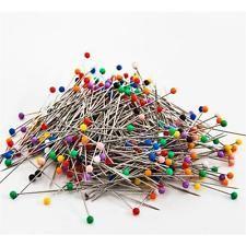 Stecknadeln 120 Stück 40 mm Nadeln mit Plastikkopf Nähen Dekonadeln Basteln