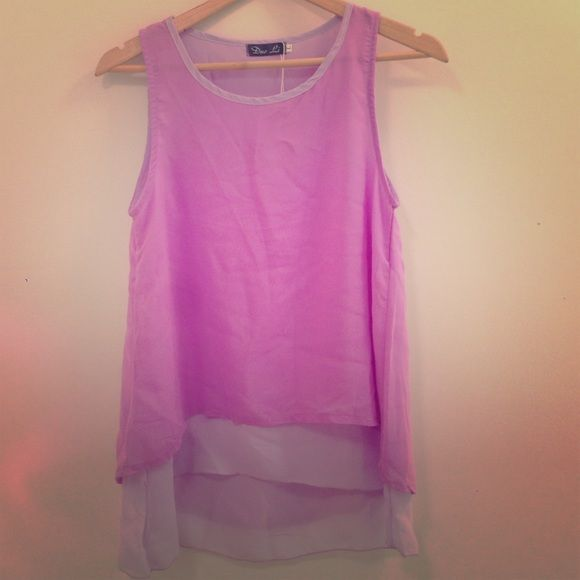 Brand New Purple Layered Top! Super cute layered top with endless accessorizing possibilities! Size L, but fits like a M. Brand new with tags. Tops