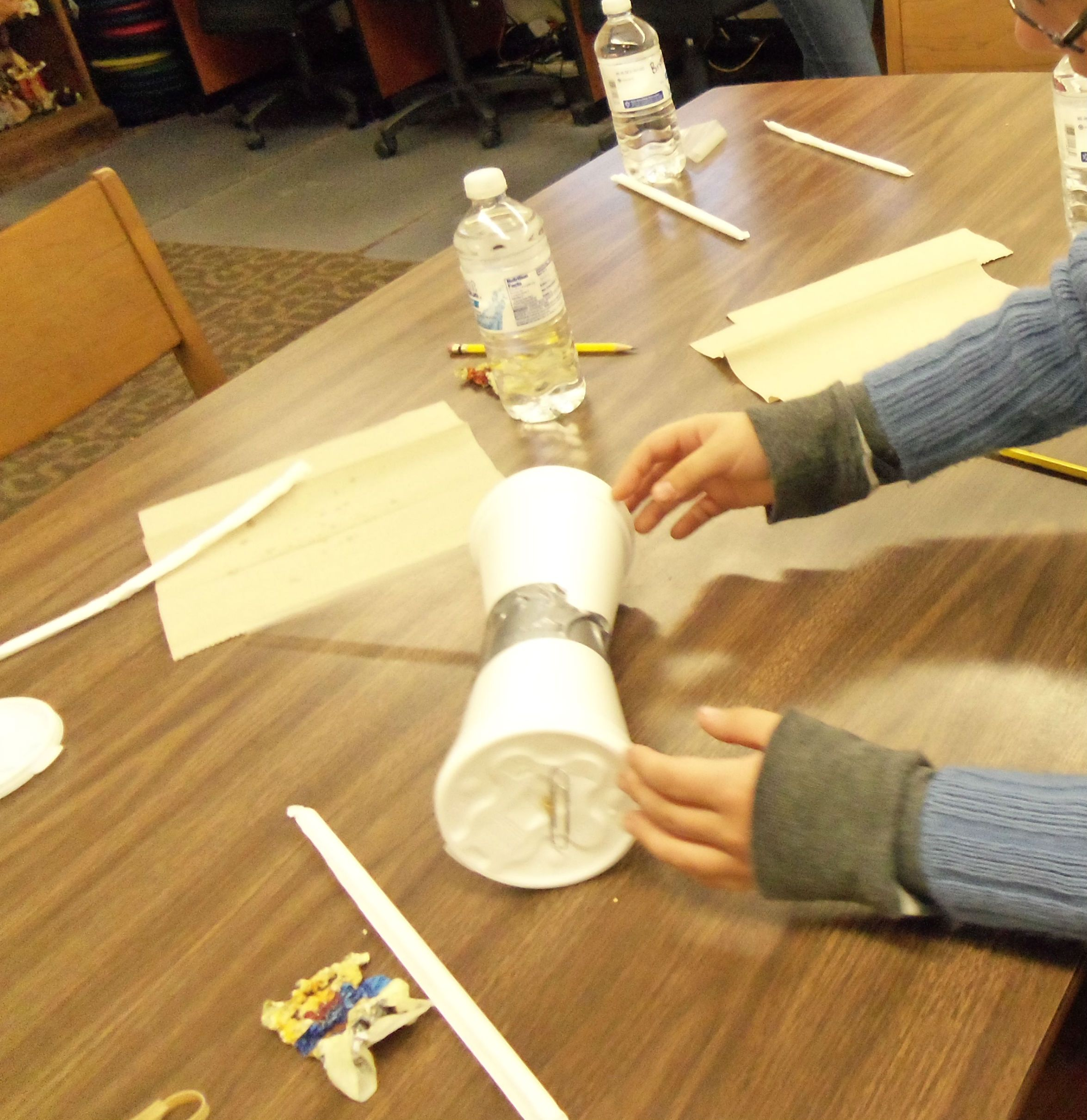 Drag Racing Cups Science Experiment On Energy Kinetic