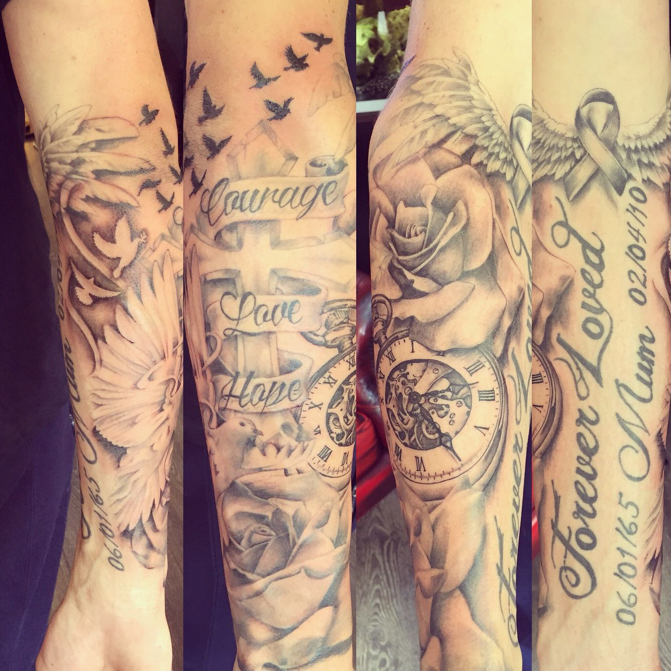 Tattoo Designs Writing: Really Enjoyed This Half Sleeve (writing Not Done By Me