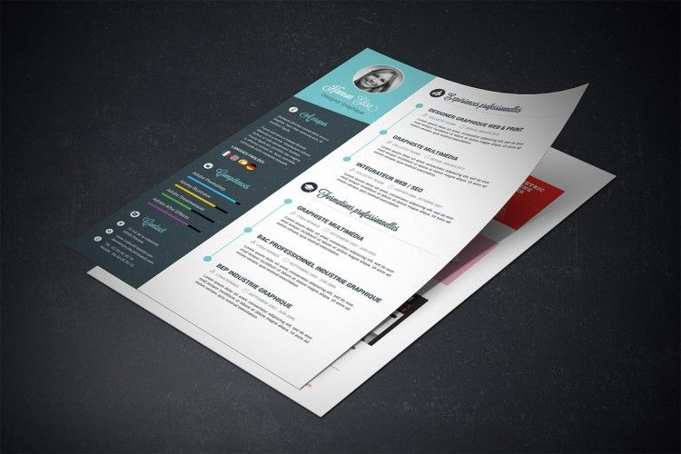 tutoriel cv graphiste - template de cv graphique photoshop