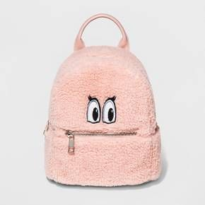 c887af2ffaec Show off your cute and quirky style with the Eye Patch Sherpa Backpack from  Mossimo Supply Co.™ In blush pink
