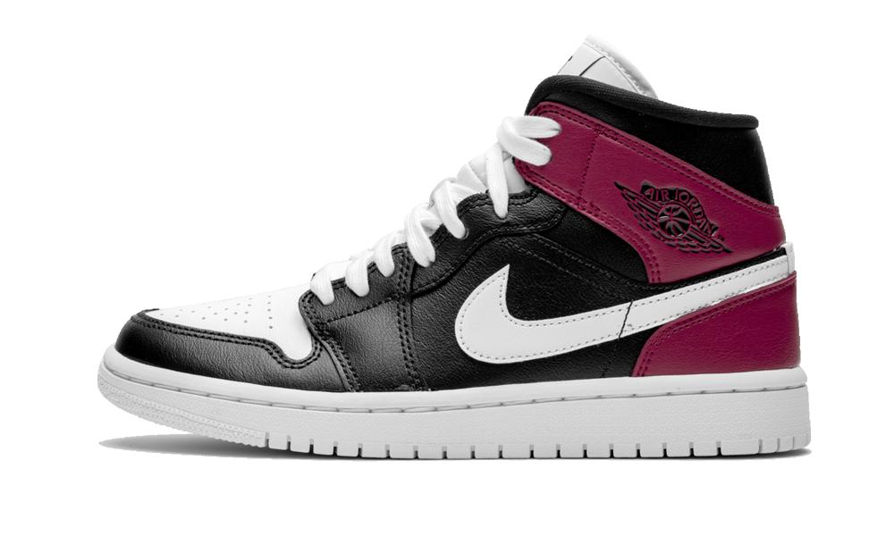 Wmns Air Jordan 1 Mid Noble Red Bq6472 016 Air Jordans Jordan 1 Mid Jordans
