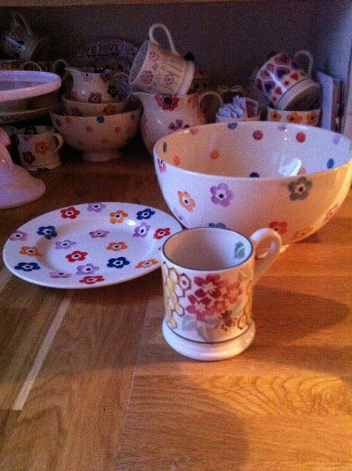 Emma Bridgewater Bright Flowers Plate and Bright Flowers ...