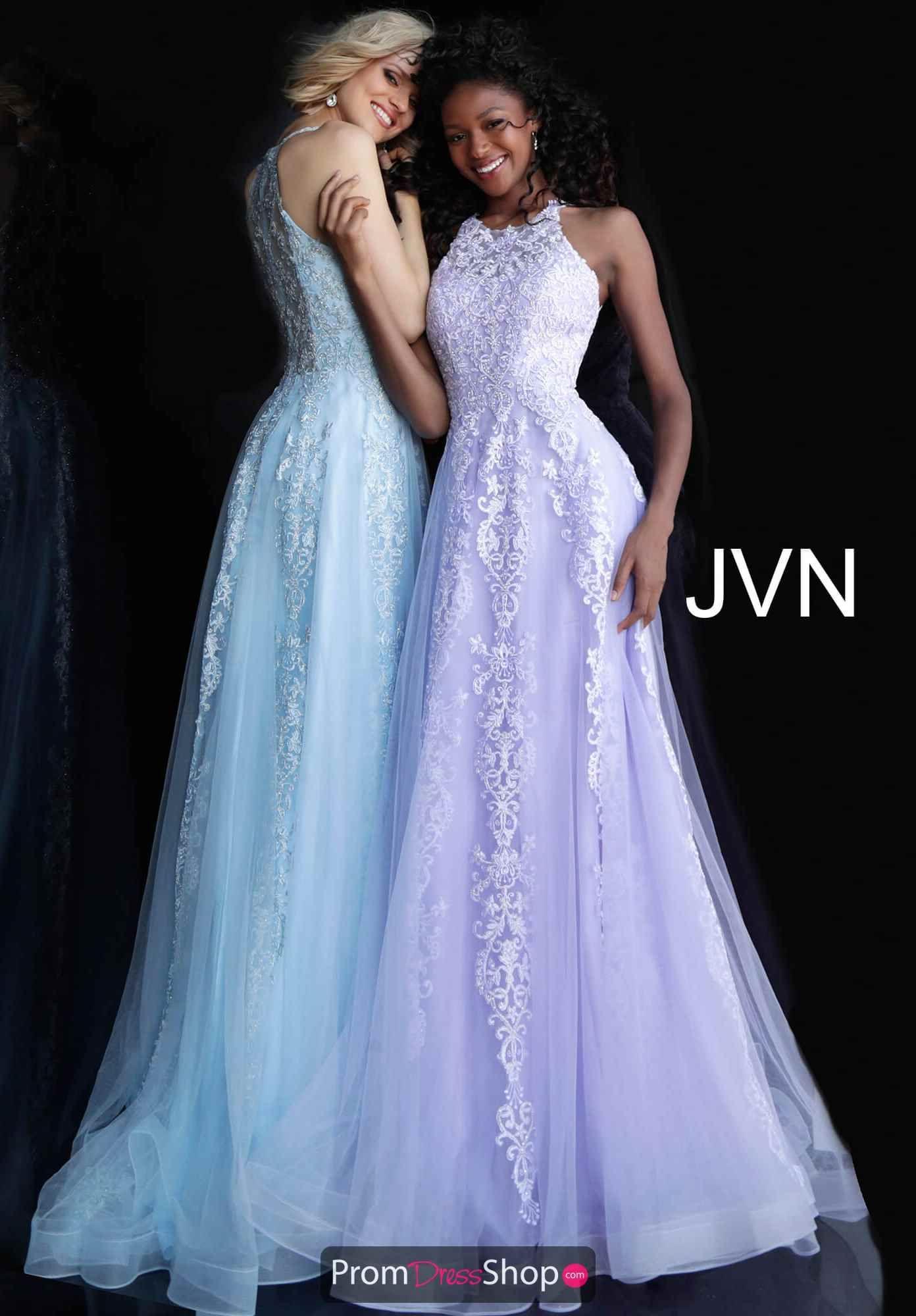 04477687d6055 JVN by Jovani High Neckline Lace Dress JVN64157 in 2019 | 2019 Prom ...