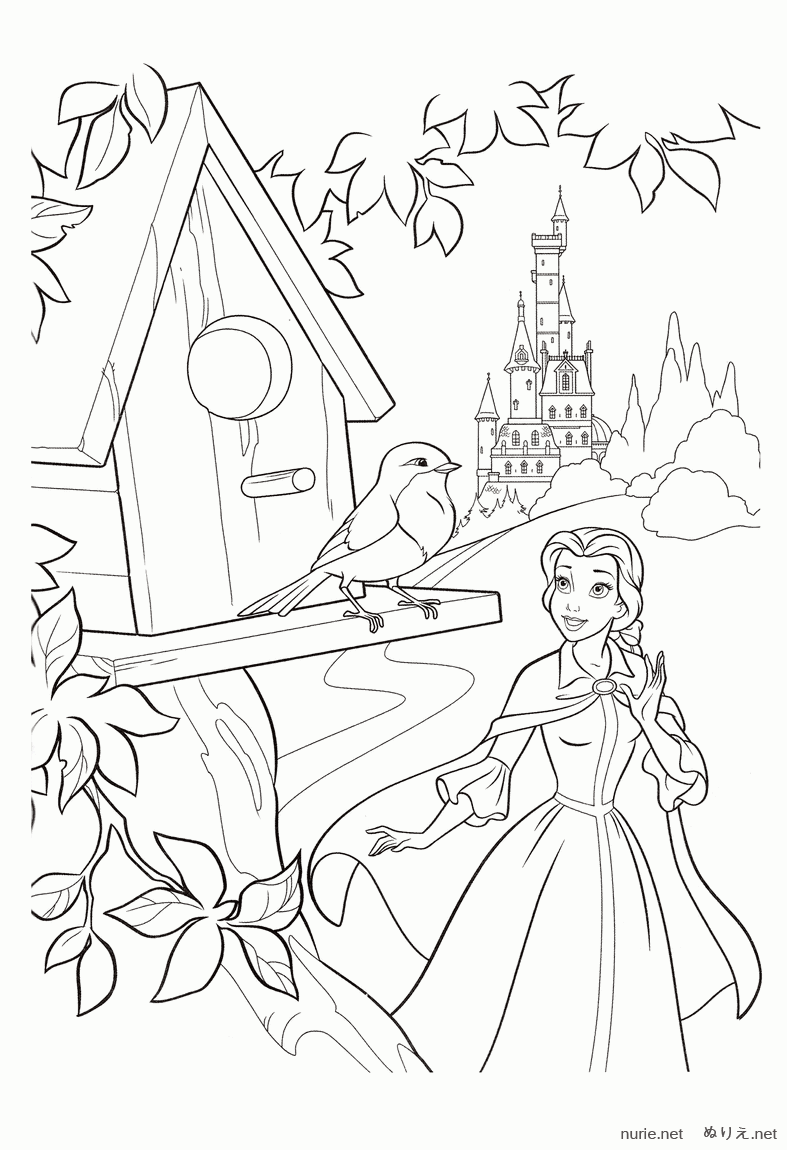 belle looks its a robin coloring pages princess belle coloring pages princess coloring