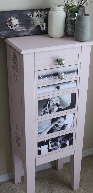 Vintage Jewelry Box DresserChest RestoredRefinished Marilyn