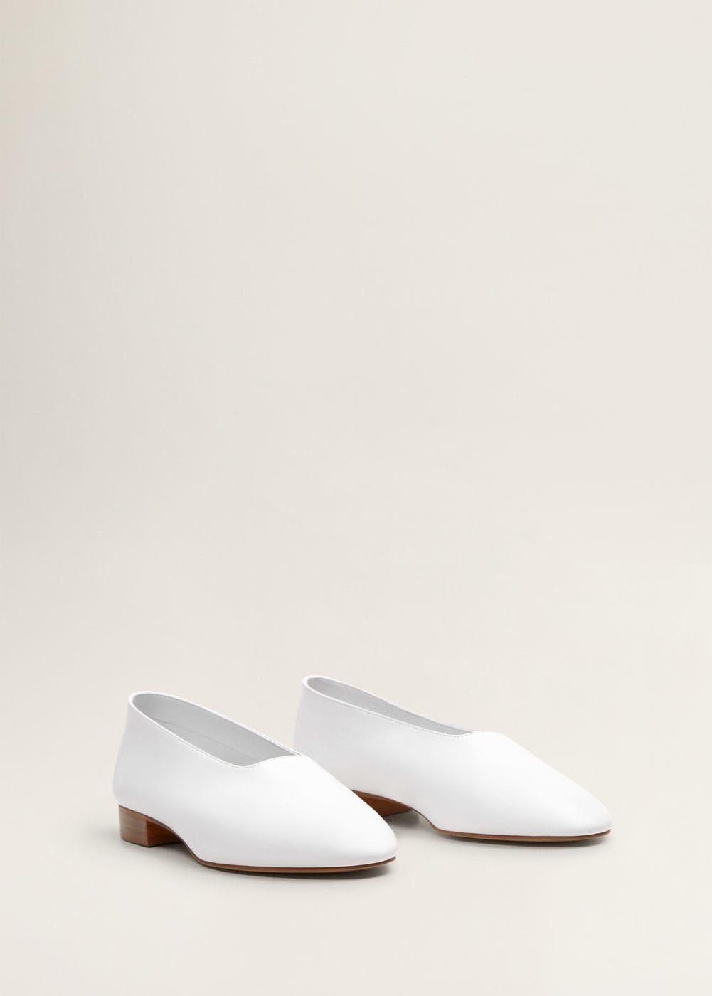 Leather ballerina - Women | Mango USA