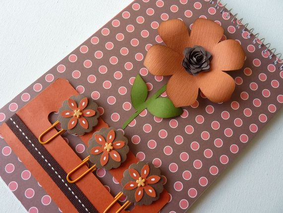Flower Steno Pad with matching bookmark clips by MyLilPumpkins, $15.50
