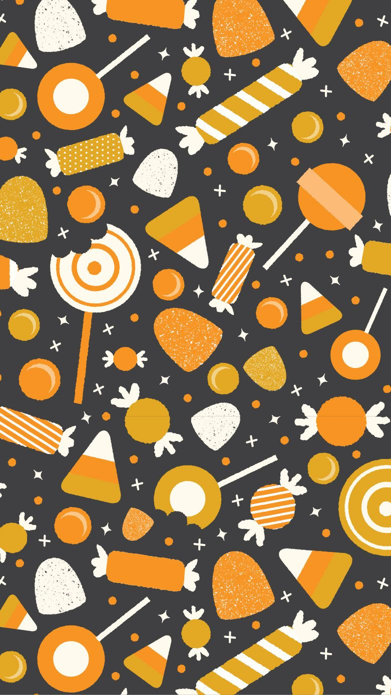 halloween candy pattern three cheers co design