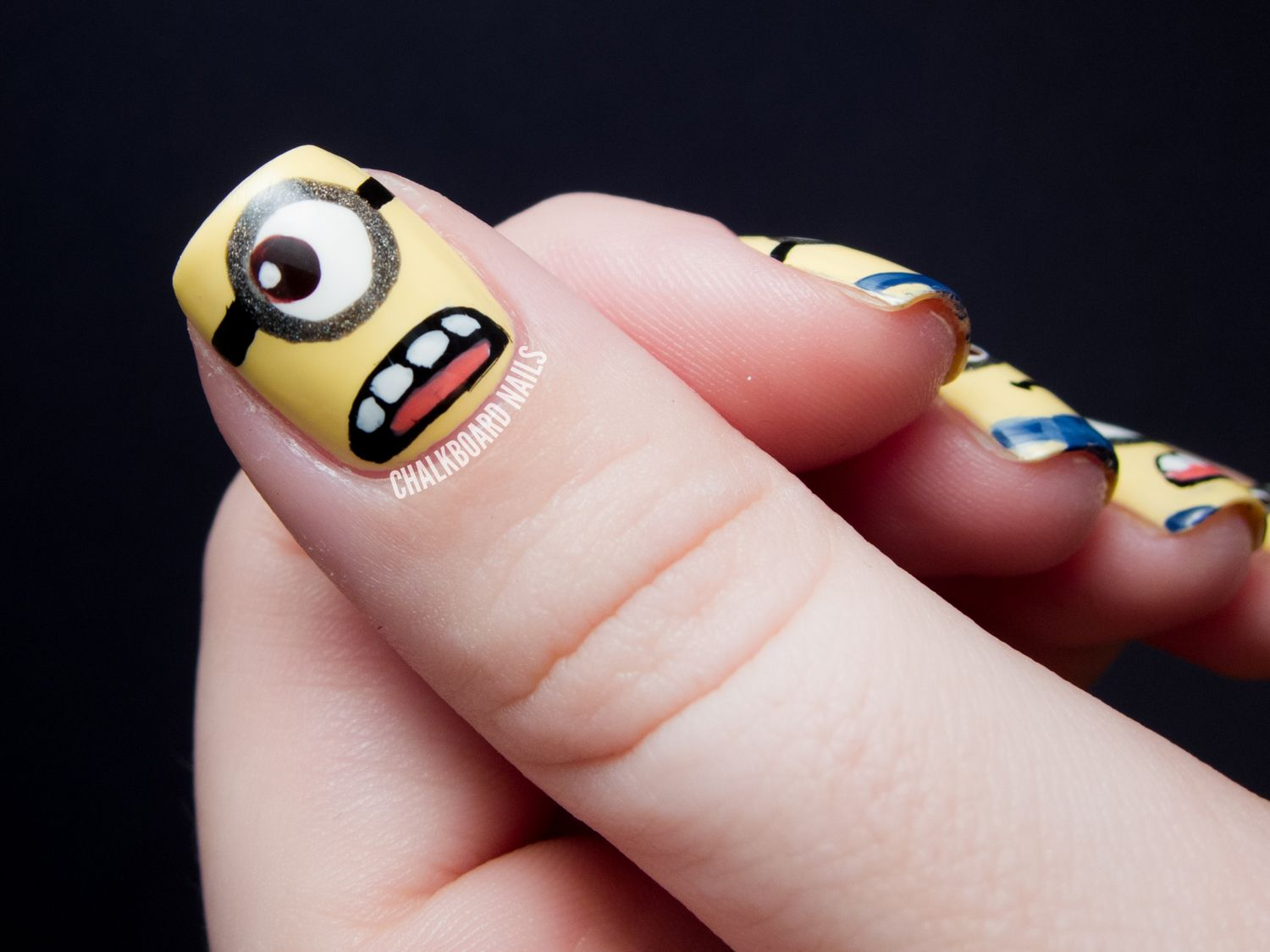 MINIONS!! - Despicable Me Nail Art - MINIONS!! - Despicable Me Nail Art Chalkboard Nails, Nail Art Blog
