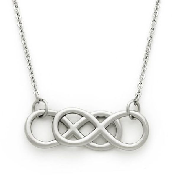 Medium Double Infinity Necklace Infinity Symbol Pendant Unisex