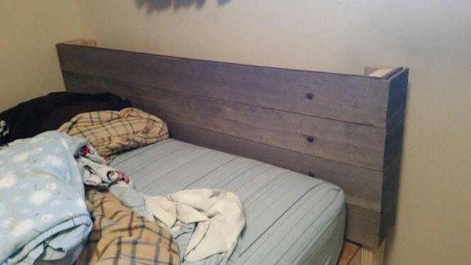 Rustic Barnwood headboard mom & I made.