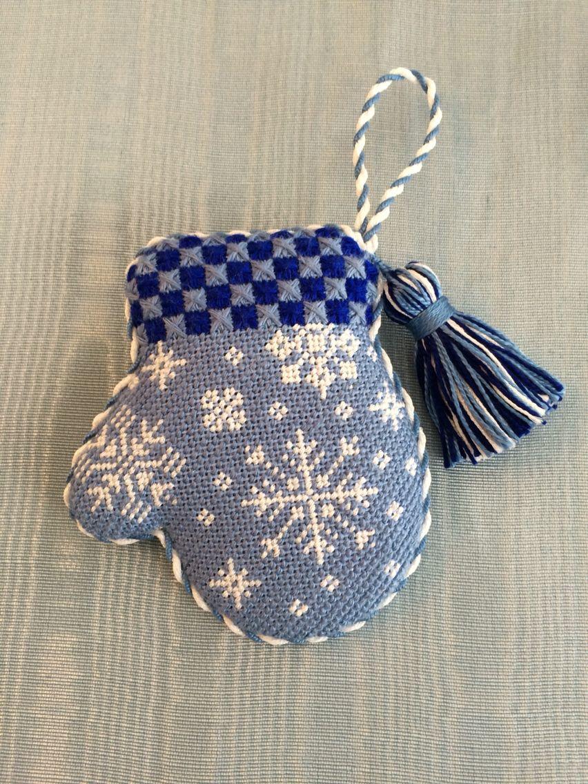 Mitten christmas decorations - Cutest Snowflake Mitten Ornament Needlepoint Canvas By Burnett Bradley Formerly Acod A