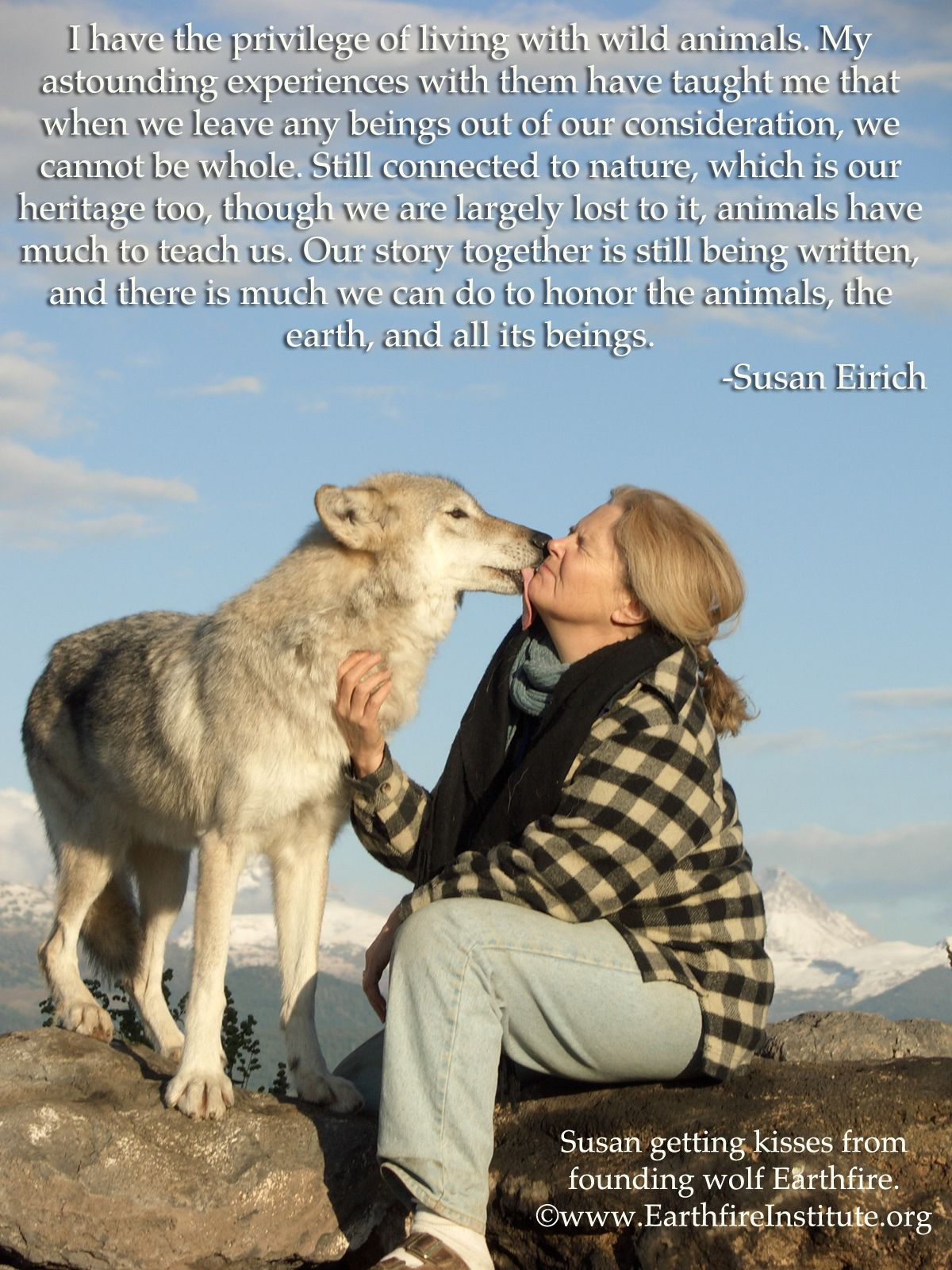 Wolf kisses are the best.